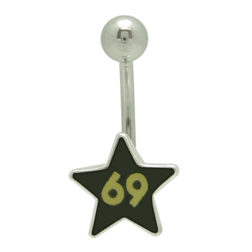 "Star ""69"" Logo Belly Button Ring (14g)"