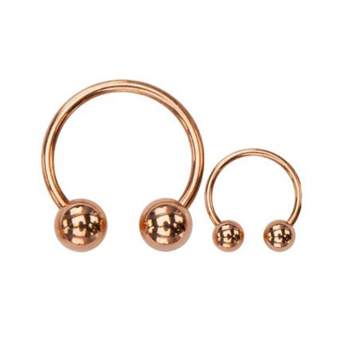 Stainless Steel Rose Gold Plated Horseshoes Ring