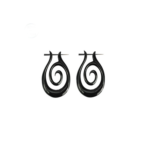 Spiral Organic Horn Earrings