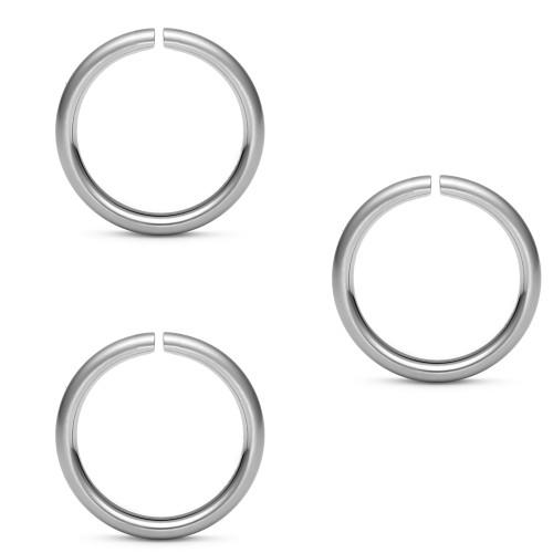 Micro Cartilage 20ga Surgical Steel Split Rings