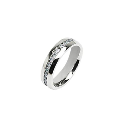 Stainless Steel Eternity Jewel Ring