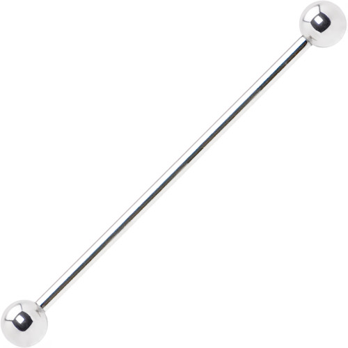 316L Surgical Steel Straight Industrial/Scaffold  Barbell 16ga 14ga