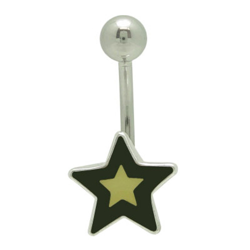Star Logo 14g Belly Button Ring