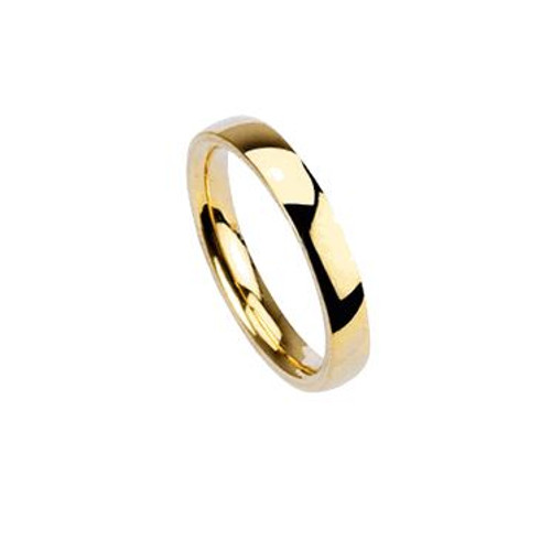 Gold Plated Polished Traditional Wedding Band