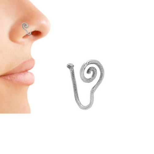Silver-Plated Non-Piercing Universal Nose Clip