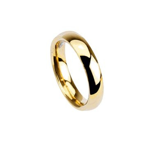 Gold Plated Glossy Wedding Ring
