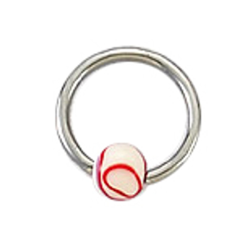 Body jewelry, 316L surgical steel Captive bead ringwith acrylic Replacement Bead