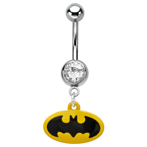 Surgical Steel Dangle Batman Belly Ring