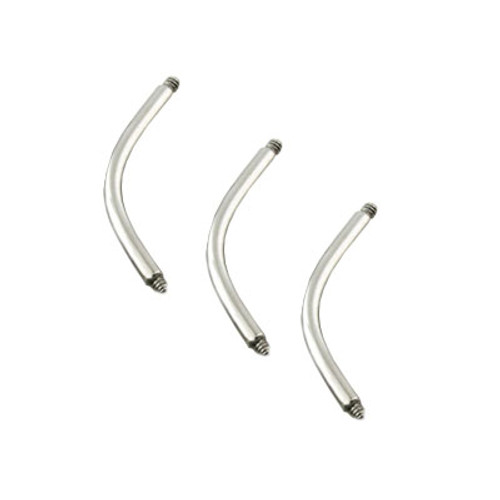 Surgical Steel Replacement Shaft Curved Barbell