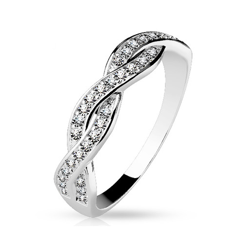 Sterling .925 Silver Infinite Design Ring with CZ Gems