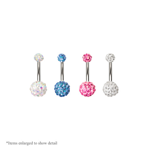 "14ga-7/6""(11mm) Genuine Ferido Belly Navel Ring - 4 Colors To Choose"