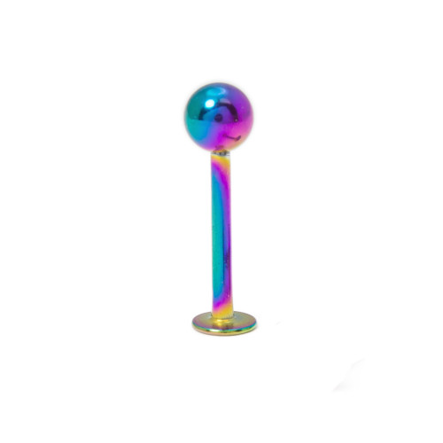 IP Coated 16ga 316L Surgical Steel Multi-Colored Labret