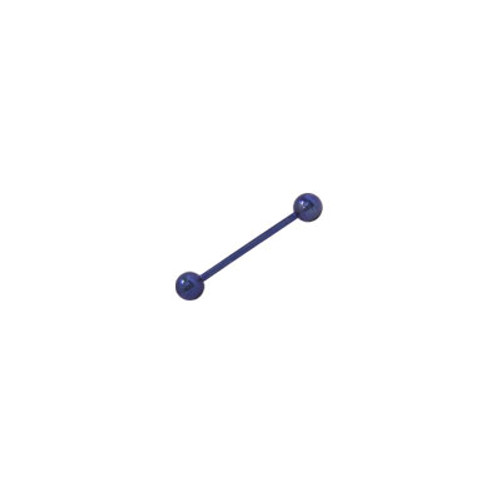 Dark Blue Solid Titanium, 14 gauge Barbell Tongue Ring