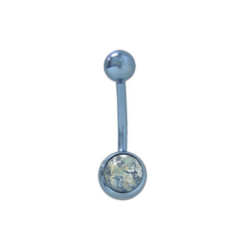 Colored Lava Rock Titanium 14g Belly Barbell