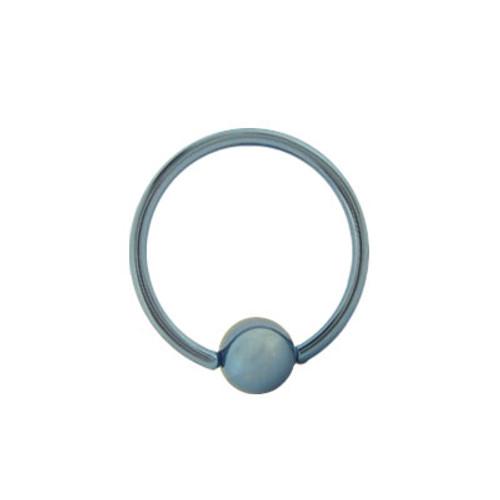 Light Blue Titanium 14g, 16g, or 18g Captive Bead Ball Closure Ring
