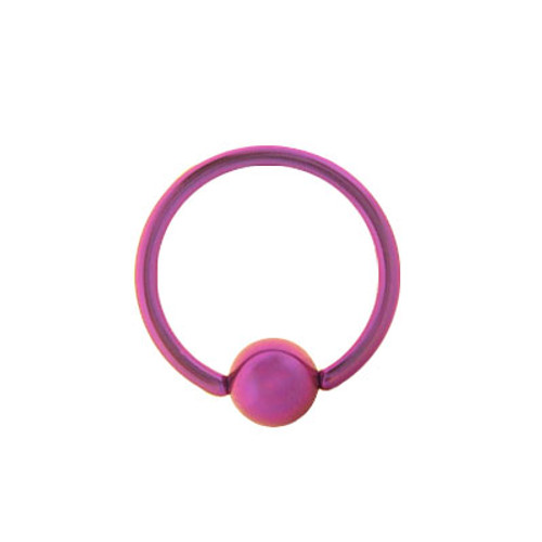 Solid Pink Titanium 14g, 16g, or 18g Captive Bead Ball Closure Ring