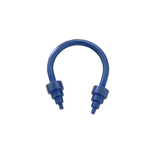 Blue Solid Titanium 14 gauge Horse Shoe Ring Cone Heads