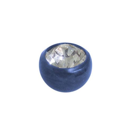Titanium Jeweled Threaded Replacement Bead