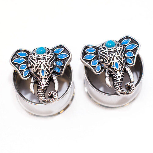Pair of Lucky Elephant Double Flare Ear Plugs