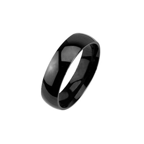 Tungsten Carbide Glossy Black Ring