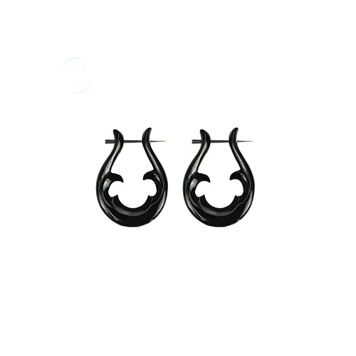 Tribal Design Organic Hanger Earring