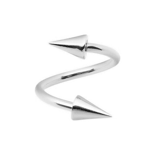 16ga Twister Ring with Spike Ends 316L Surgical Steel