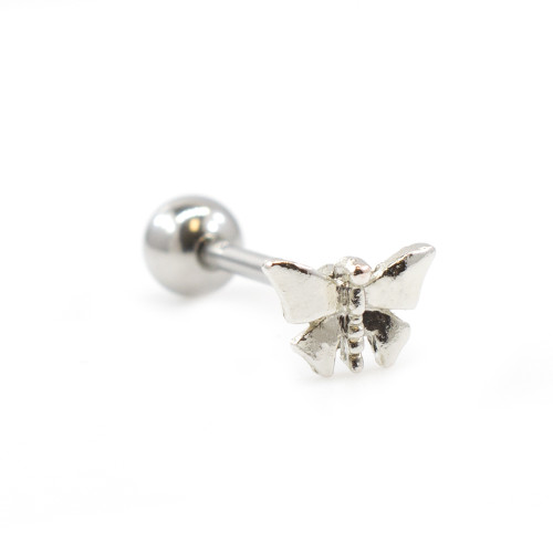 Butterfly Design Tongue Barbell 14G 316L