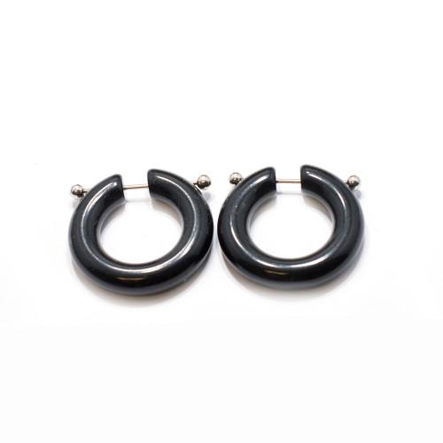Unique Black Ear Gauge/Captive Ring
