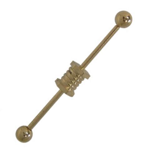 Unique Design Anodized Titanium 14 gauge Industrial Barbell
