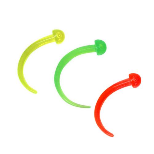6 gauge UV Acrylic Ear Plug Claw Design