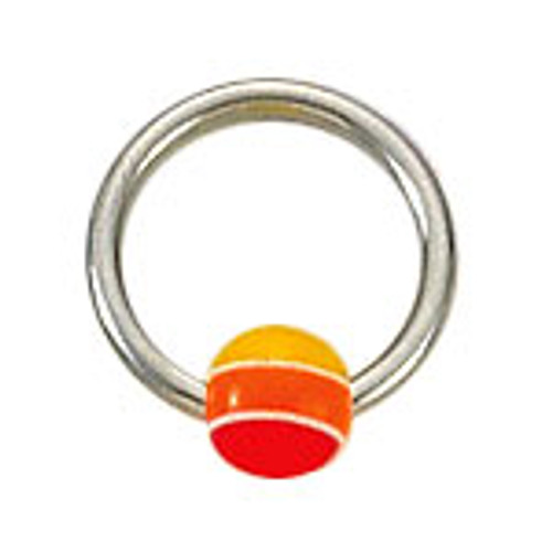 Body jewelry, 316L surgical steel Captive bead ring with acrylic Replacement Bead