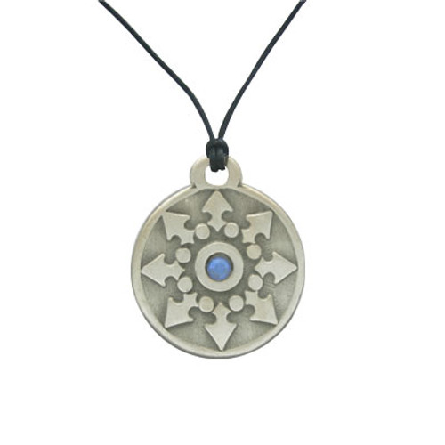 Wisdom Star Pendant with Blue Cz Gem