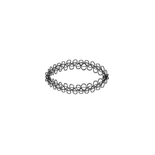 Double Chained Design Velvet Choker Necklace