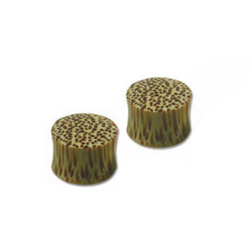 Pair of Wood Ear Plug with Sand Dunes Design(4mm up to 35mm)