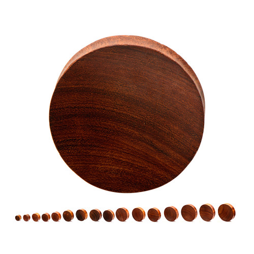 "Double Flared Concave Bayong Wood Plugs (6GA/4mm - 3""/76mm) Sold in Pairs"