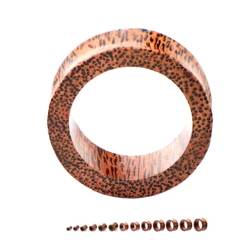 "Double Flared Coco Wood Tunnels (2GA/6mm - 3""/76mm) Sold in Pairs"