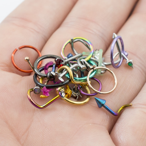 Pack of 12 Nose Rings Randomly Picked 18g and 20g