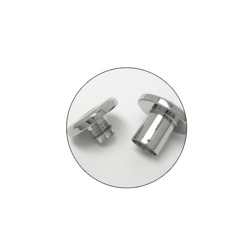 Pair of  2 Gauge Surgical Steel Screw Fit Ear Plugs with Cz Gems-1