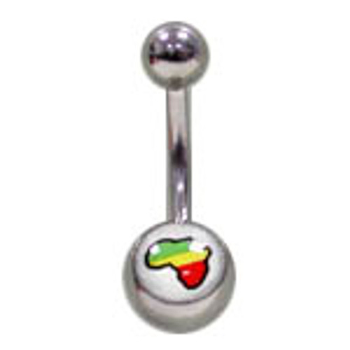 14G Body jewelry, 316L surgical steel with Logo, Belly button ring-1