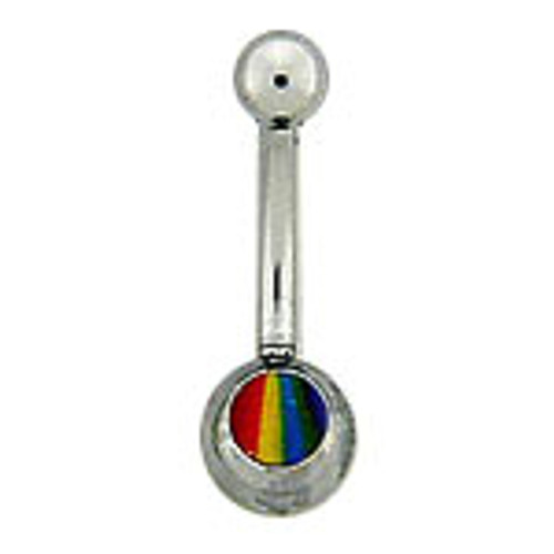 14G Body jewelry, 316L surgical steel with Logo, Belly button ring-3
