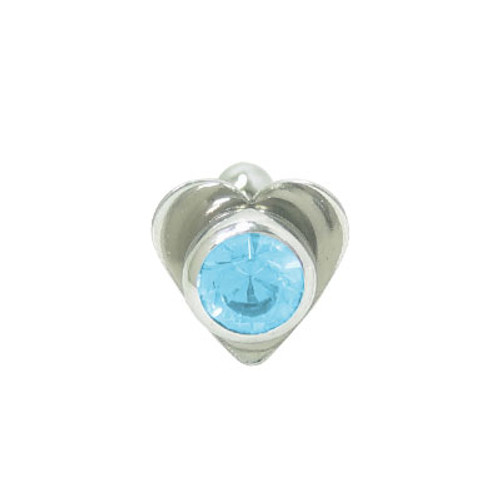 Barbell Tongue Ring Surgical Steel with Heart and Jewel Design-1