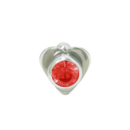 Barbell Tongue Ring Surgical Steel with Heart and Jewel Design-4