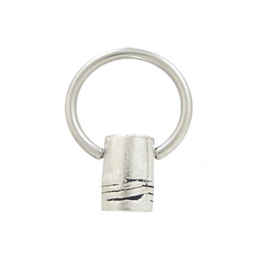 Captive Bead Ring Surgical Steel with Sterling Silver Replacement Bead-1