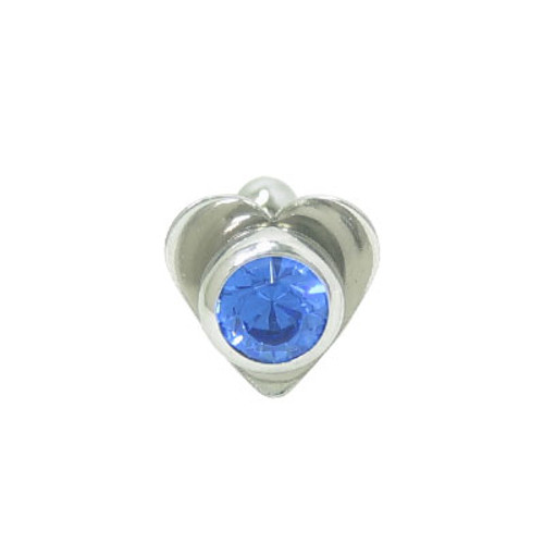 Barbell Tongue Ring Surgical Steel with Heart and Jewel Design-5