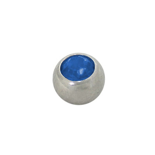 Jeweled Replacement Bead Surgical Steel Threaded -1