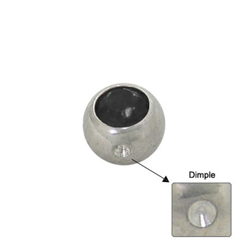 Jeweled Replacement Dimple Bead Surgical Steel-1