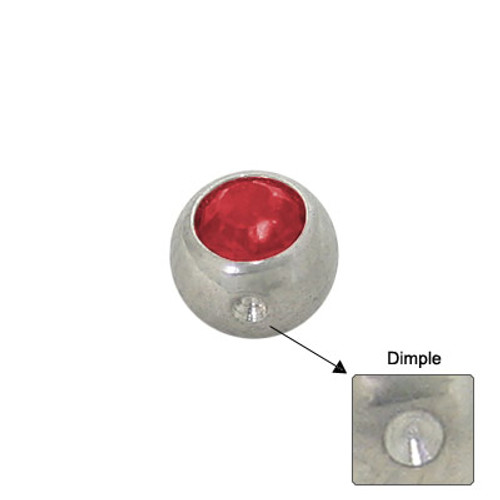 Jeweled Replacement Dimple Bead Surgical Steel-2