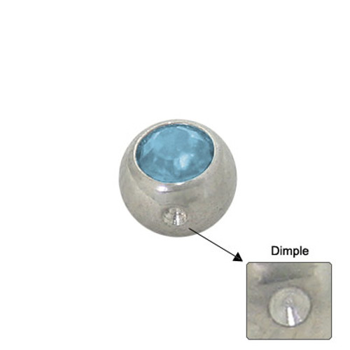 Jeweled Replacement Dimple Bead Surgical Steel -2