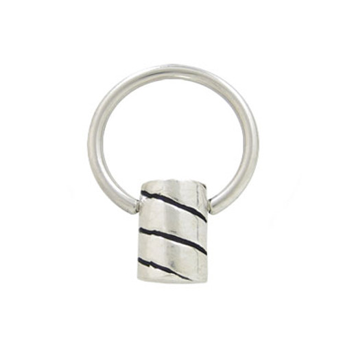 Captive Bead Ring Surgical Steel with Sterling Silver Replacement Bead-7