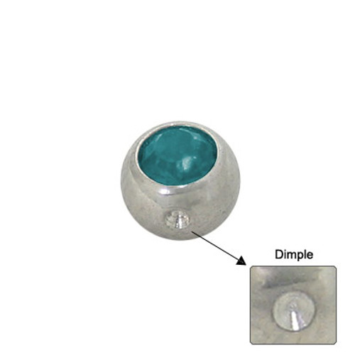 Jeweled Replacement Dimple Bead Surgical Steel-3